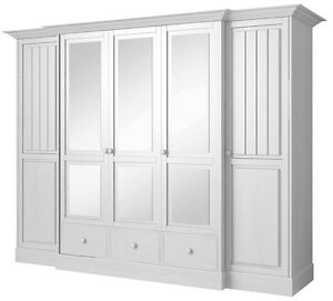 schlafkontor cinderella landhaus kleiderschrank wei spiegel schlafzimmerschrank 4251363804316. Black Bedroom Furniture Sets. Home Design Ideas
