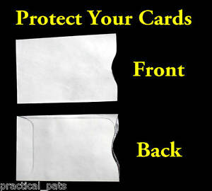 Lot-20 NEW Tyvek Credit Debit ATM ID Gift Card Holder Protector Sleeve Envelopes