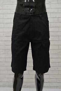 Bermuda-CHARRO-Uomo-Taglia-Size-46-Pantalone-Shorts-Jeans-Pants-Man-Cotone-Nero