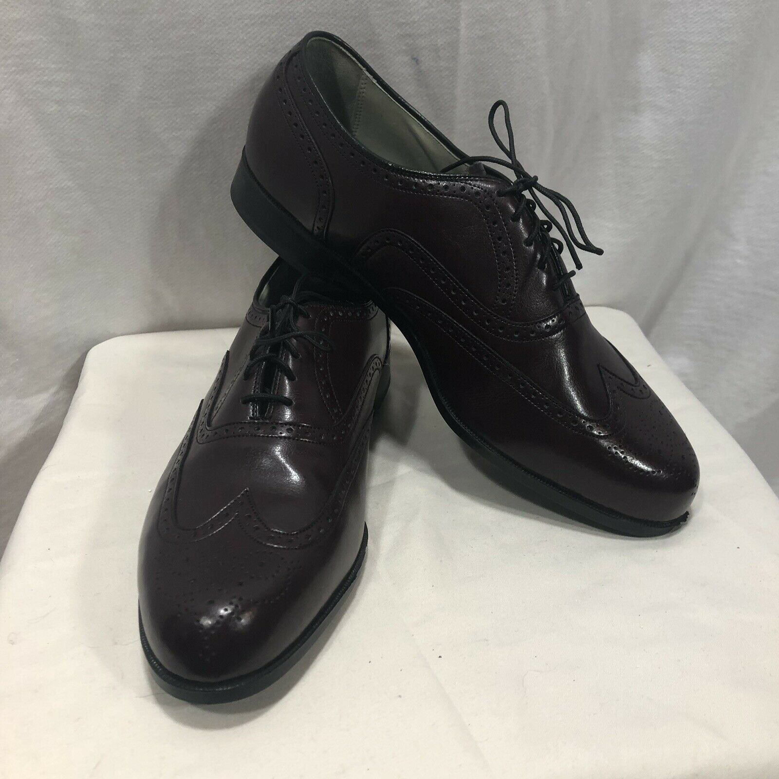 Florsheim Sutton Wine 10.5 Comfort USA New In Box Lace Up Men Dress shoes