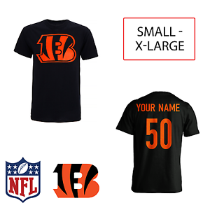 PERSONALISED Cincinnati Bengals Adult Kids  NFL T-Shirt Name AMERICAN FOOTBALL