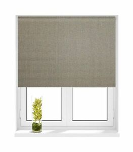 Sunlover thermal blackout roller blinds hessian grey sizes 60cm to image is loading sunlover thermal blackout roller blinds hessian grey sizes solutioingenieria Image collections