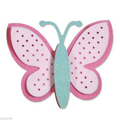 SIZZIX Thinlits Die Cutting Set 3pk Dies SWEET BUTTERFLY 660802 Craft Asylum