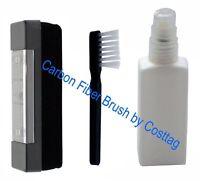 Anti-Static Carbon Fiber record & LP Vinyl cleaner washer W Stylus brush