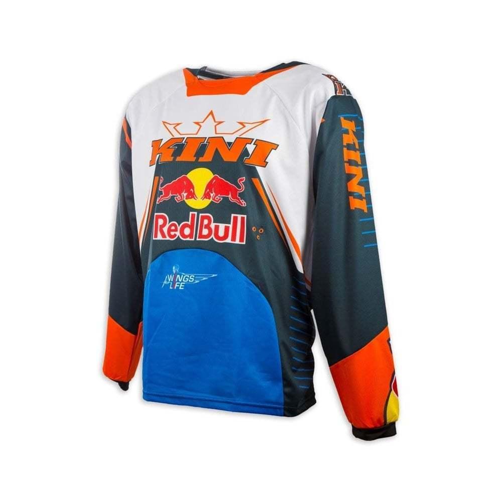 Kini  Redbull Adults 17 RB Competition Motocross MX Enduro Jersey - Navy  orange  new listing