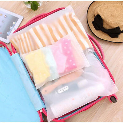 2pc x Waterproof Underwear  Storage Bag Travel Luggage Seal Zipper Organizer 339