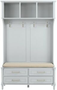 Details About Home Decorators Collection Dove Grey Double Hall Tree Entryway Furniture