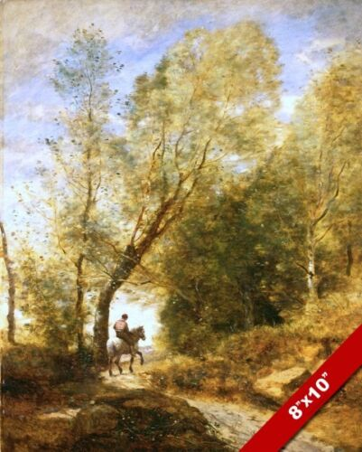 ON THE FOREST PATHOF COUBRON PARIS FRANCE PAINTING ART REAL CANVAS GICLEEPRINT