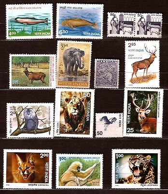 Elephant,caracal,leopard,lions,various 270t5 Aesthetic Appearance Energetic India Animals Sauvage Stamps Topical Stamps