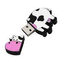 8GB 16GB 32GB 64GB Cute Cow USB 2.0 Flash Memory Stick Pen Drive Thumb U Disk SN
