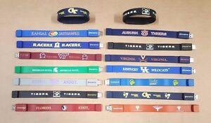 College Imprinted USB Wristband Drive Bracelet 2.0 GB Memory Stick Many Schools