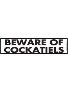 "12/"" x 3/"" Warning Beware of Tarantulas Aluminum Animal Sign and Sticker"