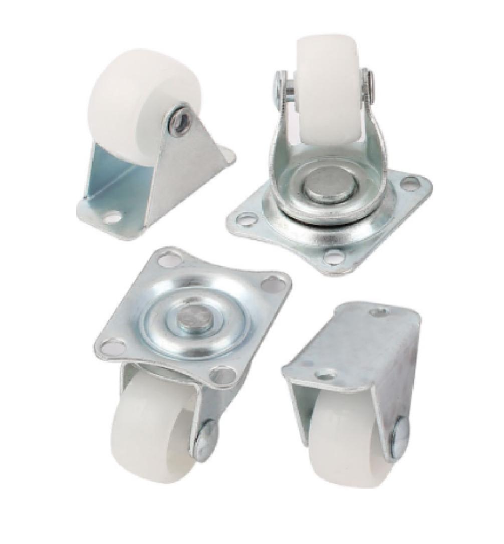 Wheel Bearing Noise >> 4 x 25mm Castors Casters Swivel & Fixed Small Mini Wheels Furniture - Max 50Kg | eBay