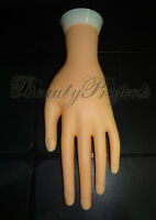Practice Hand Mannequin With Stand Left Side Bendable Fingers Soft Light Weight