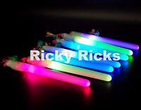 12 Magic Wands Light-up Sticks Flashing Lanyard Led Glow Blinking Rave Party Edc