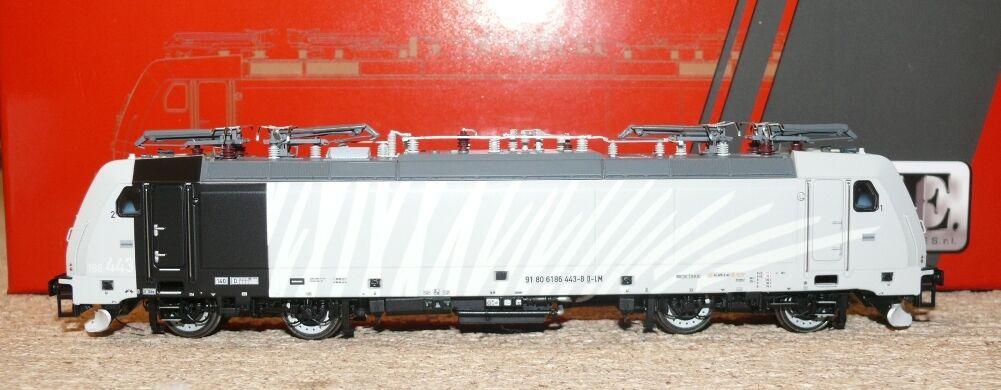 "HS ACME AC60407 E Lok 186.443 TRAXX priv. ""Lokomotion "" Zebra weiss"