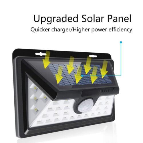 4X LED RV Motion Sensor Solar Exterior Porch Utility Light Fixture 46 LED White