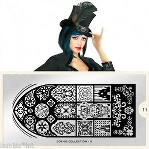 MoYou-London-GOTHIC-11-Collection-Stamping-Schablone-Schaedel-Ornament-Krone