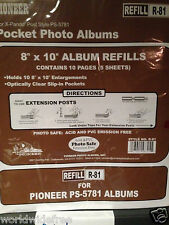 Pioneer 8x10 Refill Pages For Ps5781 X Pando Pocket Photo Album R81