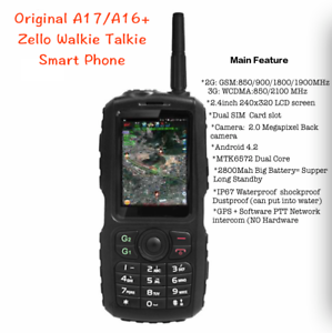 A17 Rugged Waterproof Zello Ptt Walkie Talkie Smart Phone Android