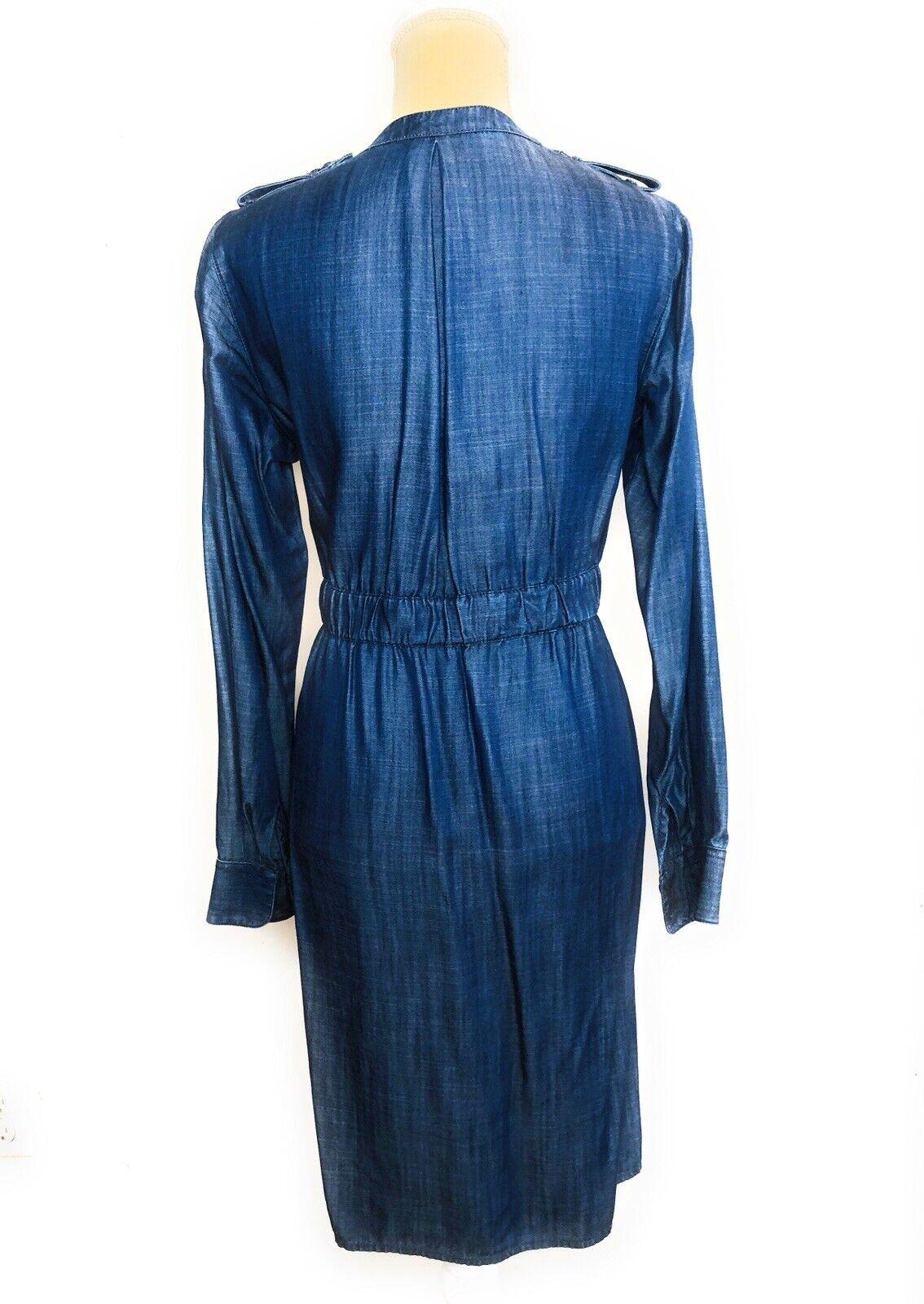 9bf3afcba0ba2 ... Foxcroft denim denim denim tencel drawstring dress Longsleeve Size 6  04c382 ...