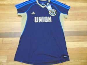 Adidas Women/'s MLS Jersey Philadelphia Union Team Navy//Gold sz L
