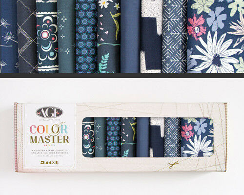 Color Master FQT Collectors Boxes by Art GAllery Fabrics rainbow of colours