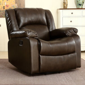 Image Is Loading Bonded Faux Leather Rocker And Swivel Recliner Chair