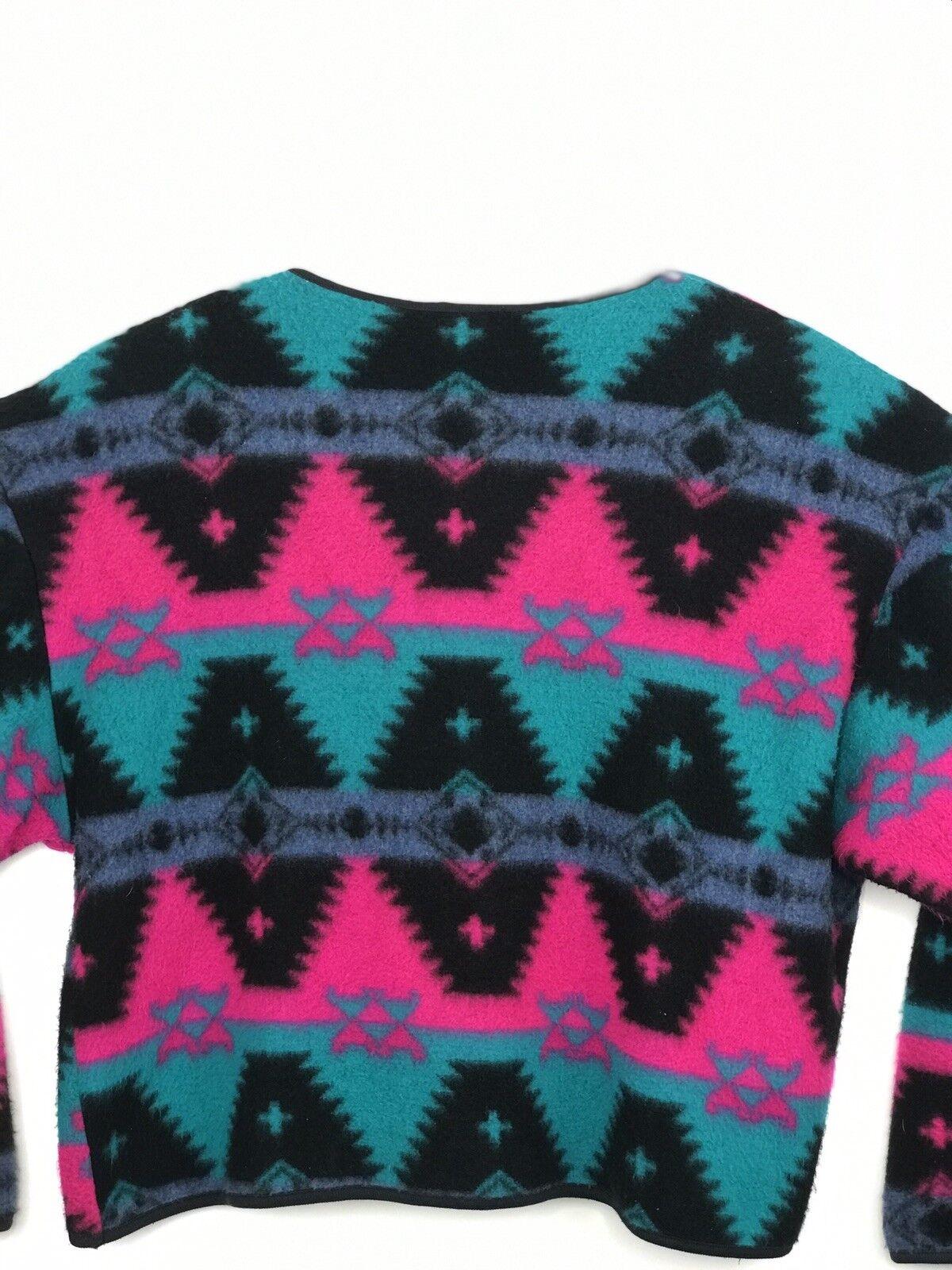 Fleece Shirt Multi color David Wayne Button Button Button Front Ladies USA Made 9c2b6f