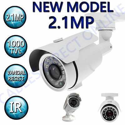 HDTVI 2.1MP 2.8- 12mm Varifocal Bullet CCTV Surveillance Security Camera Outdoor