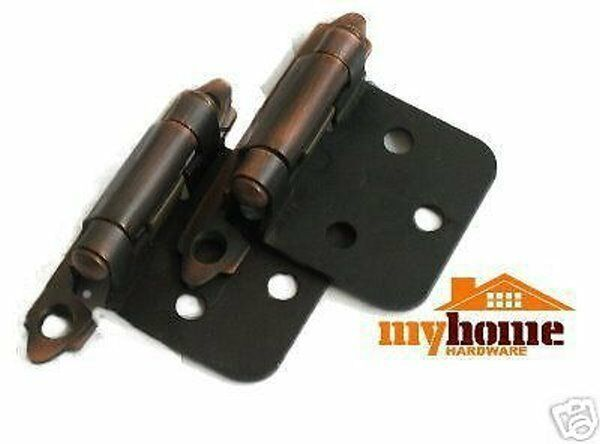 Cabinet Door Flush Hinges Brushed Oil Rubbed Bronze Hinge 100 pair (200 pieces)