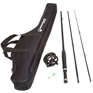 Fly Fishing Rod and Reel Combo – Fishing Line, Flies, Carrying Case Included – ,