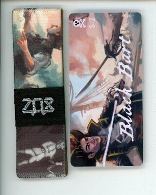 ZOX Silver Strap BLACK BEARD Wristband Card Season 2 Scourges of the Seas
