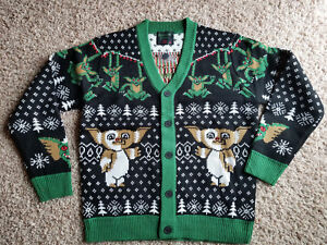 Christmas Ugly Sweater.Details About Gremlins Mondo Holiday Christmas Ugly Sweater Mens Women Cardigan New All Sizes