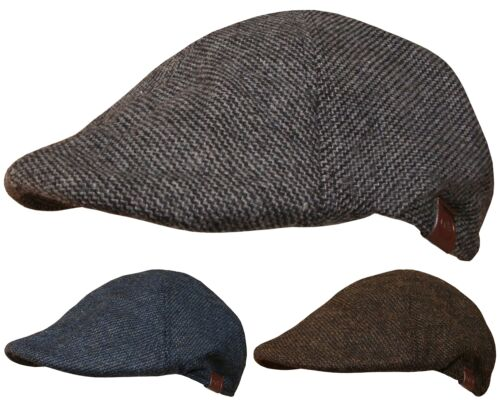 Mens 6 Panel Flat Cap Baker Boy Hat Country Fashion Hats Newsboy Peaked Caps