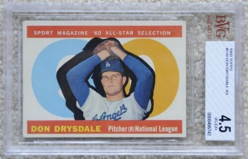 Topps 1960 Set Break Don Drysdale #570 BGS 4.5 VGEX+ Baseball card