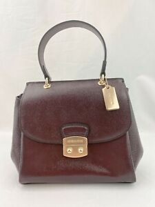 NWT-Coach-Small-Patent-Crossgrain-Leather-Avary-Crossbody-Bag-Oxblood-F37833