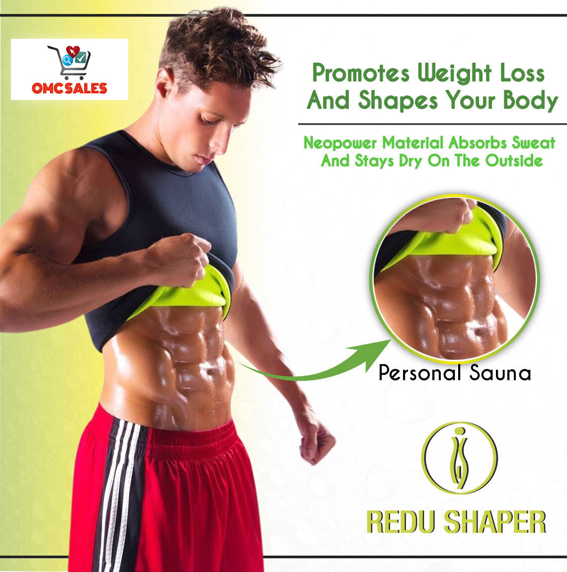 2 REDU SHAPER MAN Medium, xtreme power belt, osmotic, tecnomed, redushaper