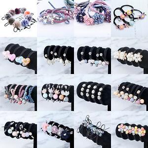 Women-Hairband-Ponytail-Holder-Elastic-Hair-Tie-Band-Rope-Hair-Ring-Flower-Pearl