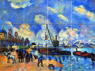Art Cezanne Blue Sky Mural Ceramic Backsplash Bath Tile #2084