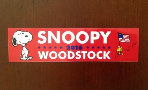 Snoopy /& Woodstock Trump /& Hillary! SDCC 2016 Peanuts Election Bumper Sticker