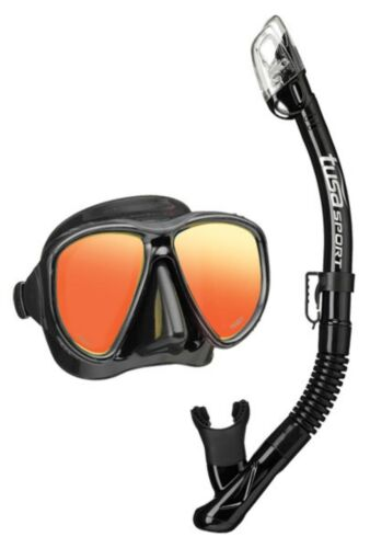 Tusa Powerview Combo Dry Mirrored Mask /& Snorkel Set Colour Choice