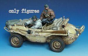 1-35-Resin-German-Schwimmwagen-Crew-2-Soldiers-Kit-unpainted-unassembled-QJ120