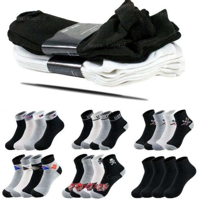 10-13 12 Pairs Lot Men Women Spandex Socks Multi Pattern Fashion Casual 9-11