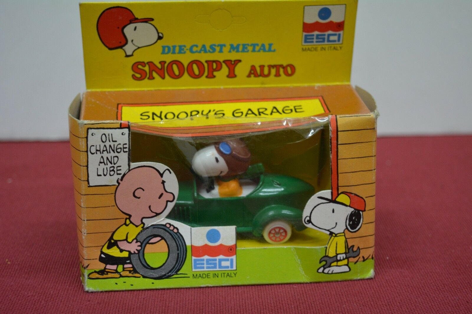 Exit Snoopy Green Car with Original Case