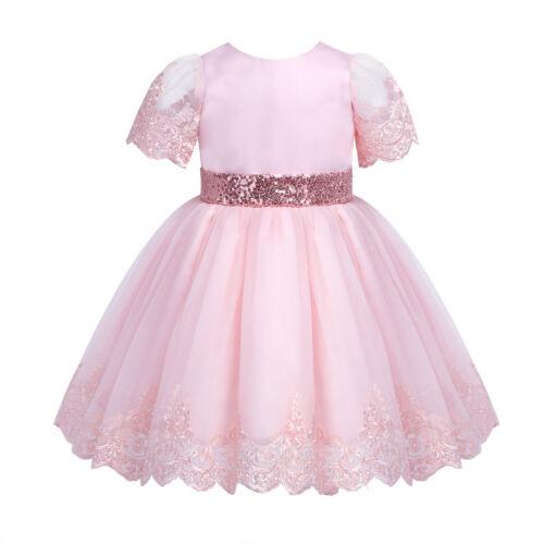 Kid Baby Flower Girls Princess Tutu Dress Communion Pageant Formal Party Dresses