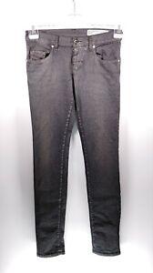 Diesel Grupee Wash R846P W26 L32 grau Damen Jeans Hose Denim Designer Mode Italy