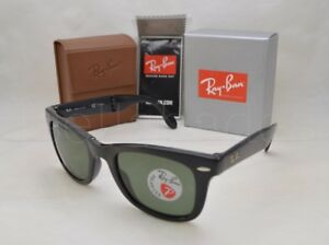c725a37eeccf Ray Ban FOLDING WAYFARER (RB4105-601 54) Black with Crystal Green ...