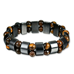 Magnetic-Bracelet-Black-Hematite-Stone-Therapy-Health-Care-Weight-Loss-Jewelry