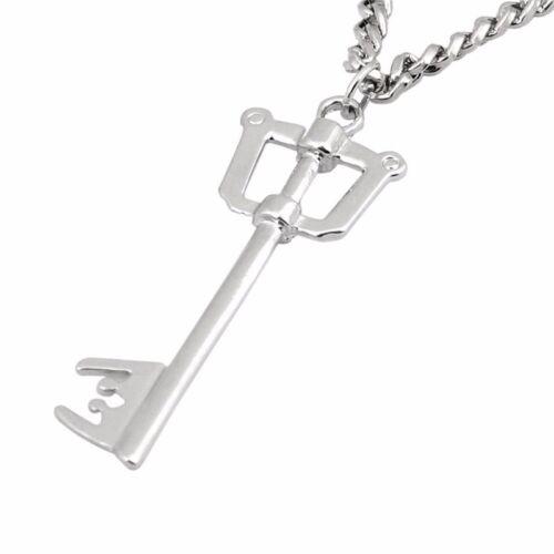 Kingdom Hearts Sora Keyblade Key Metal Necklace Pendant Cosplay Jewelry Gift